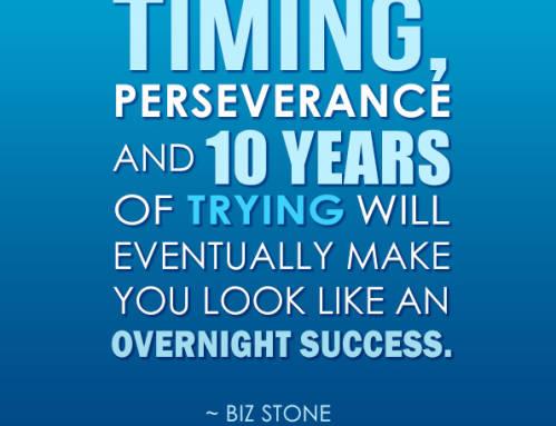 El trabajo duro y la perseverancia te llevarán lejos