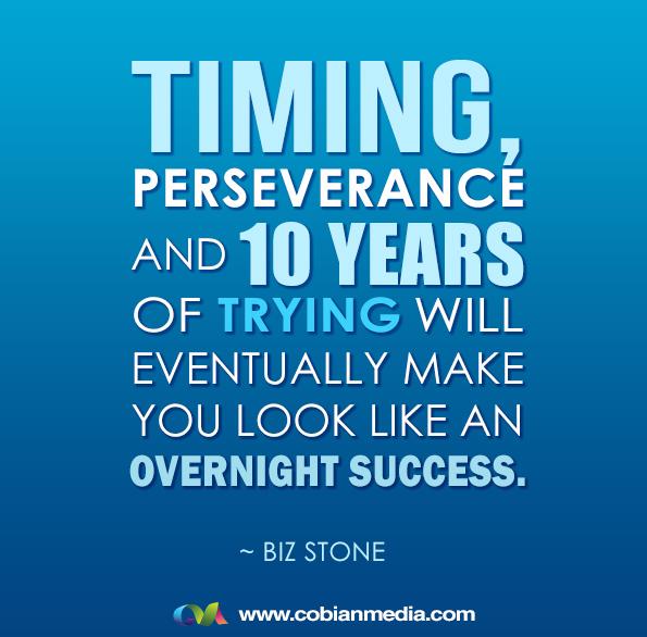 Frases emprendedoras-El tiempo y la perserverancia te llevaran lejos
