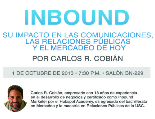 Evento de Inbound Marketing: comunicaciones, RRPP y mercadeo