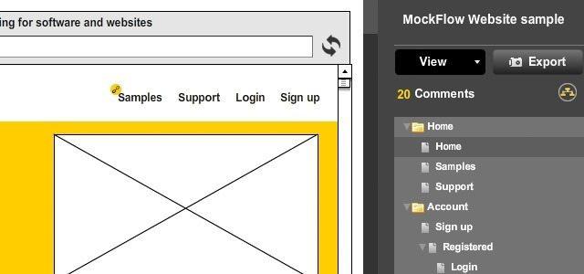 MockFlow para maquetas interactivas