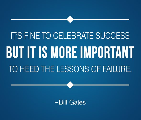 Frases Emprendedoras El fracaso te llevará al éxito Biill Gates